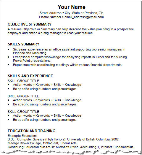 Free Job Resume Examples Resume Examples Technical Resume
