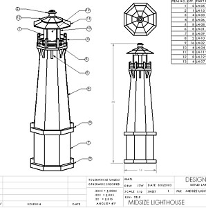 wood lighthouse plans