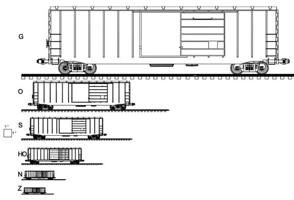 Train Toy Model Train Scale Guide Design Layout Plans PDF