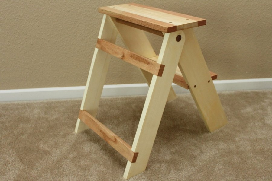 folding wood step stool plans