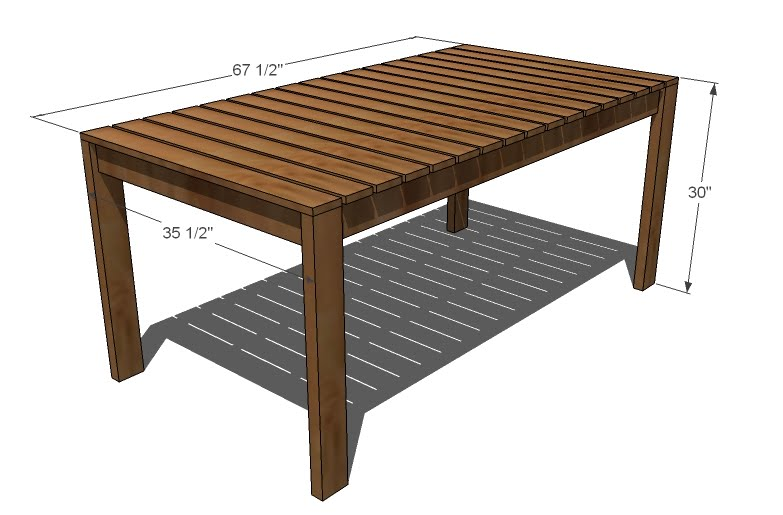 plans for outdoor wood tables