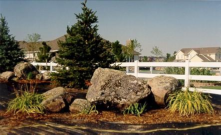boulders landscaping landscape