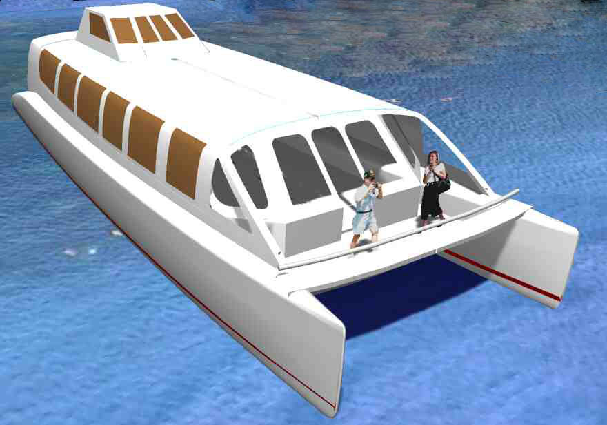Plans Hull Catamaran Power