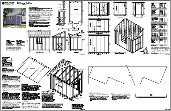 Free Shed Plans Lean To How to Build DIY by