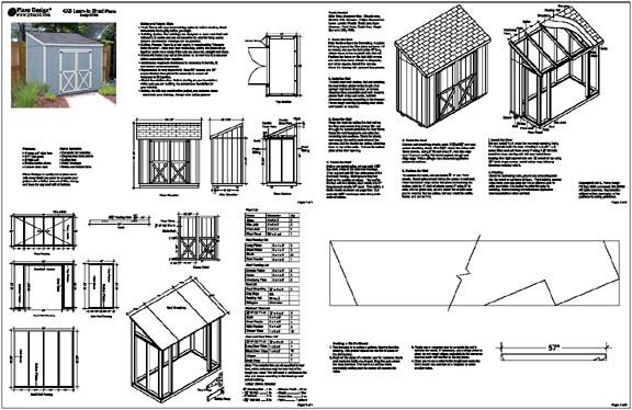 Lean To Shed Plans Free How to Build DIY Blueprints pdf