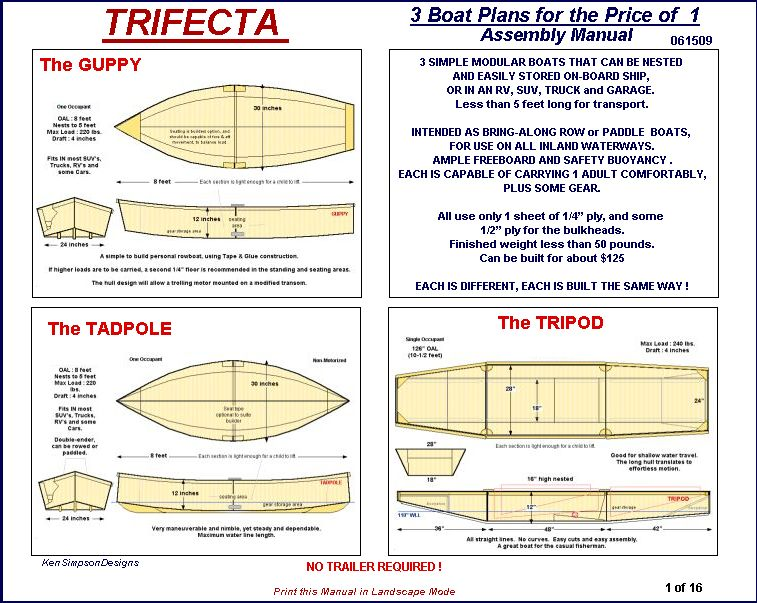 Free layout duck boat plans | Biili Boat plan