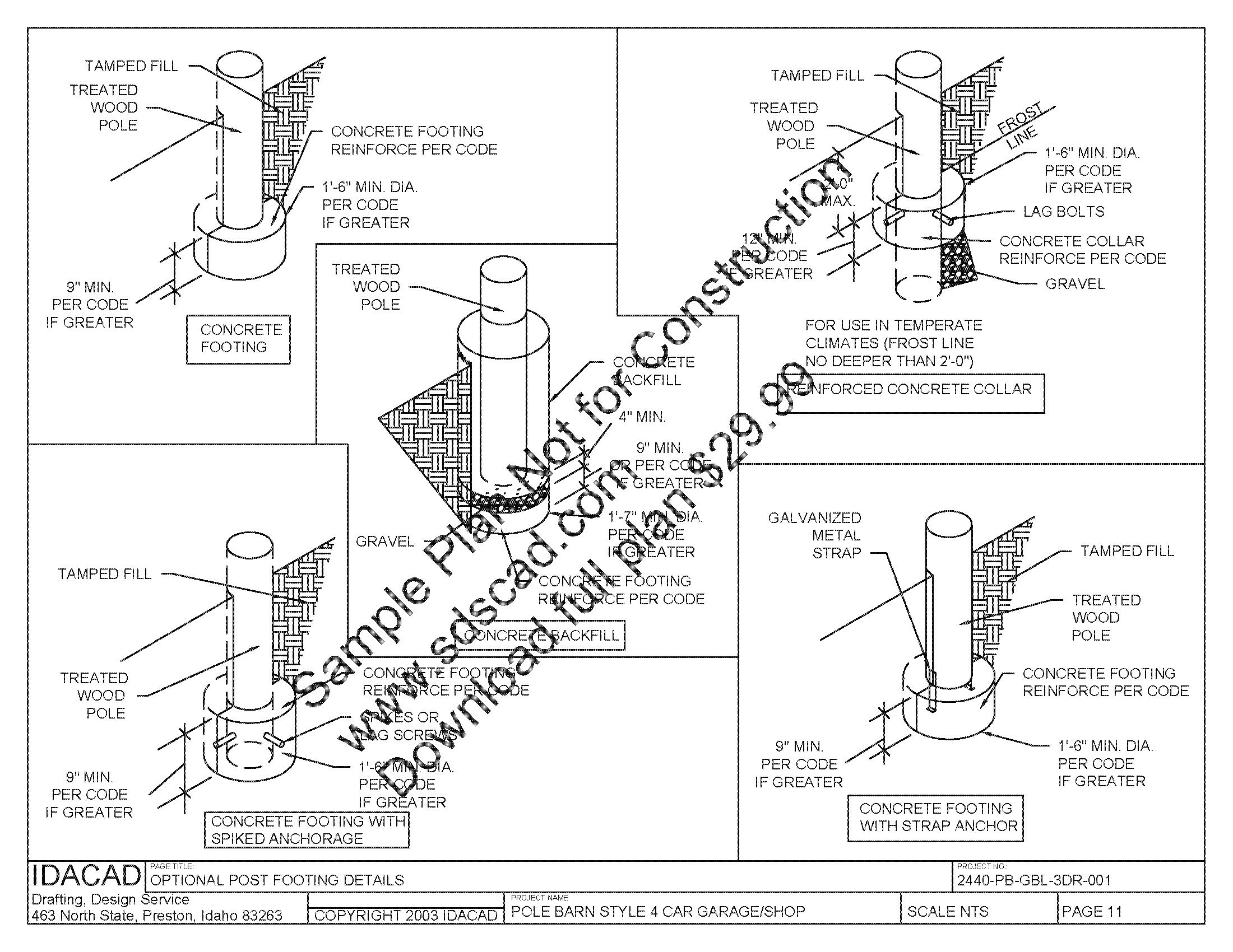Free Pole Shed Plans