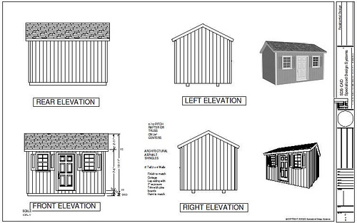 Shed Plans Garden Shed Plans Materials List by 8\'x10\'x12