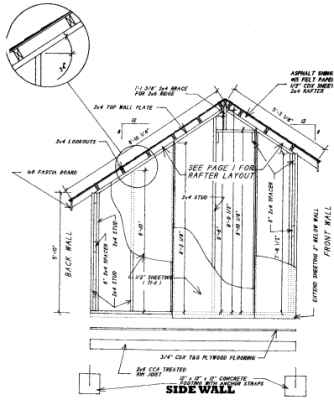 Shed Plans Garden Shed Plans Saltbox by 8\'x10\'x12\'x14