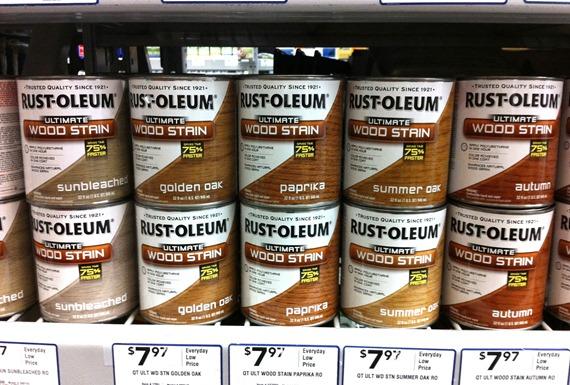 Rust-Oleum Wood Stain Colors