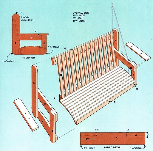 Build Diy Free Wooden Bench Swing Plans Pdf Plans Wooden