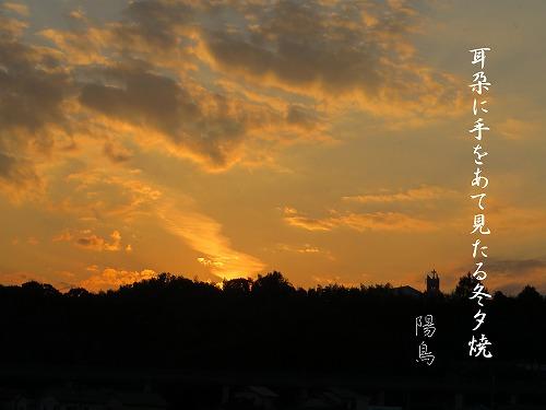 陽鳥?!   冬夕焼