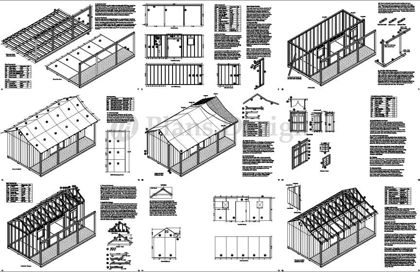 Free 12x20 Shed Plans How to Build DIY by