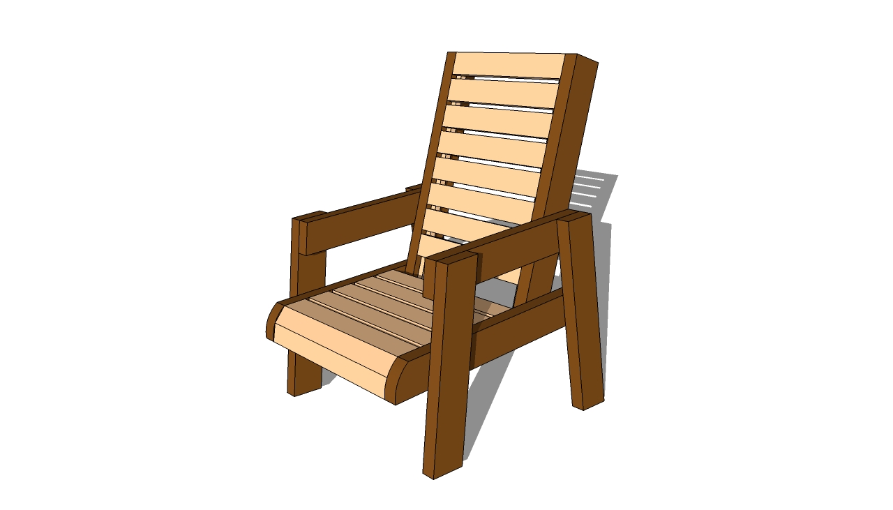Pdf plans wood projects chair download easy wood working for Wooden armchair designs