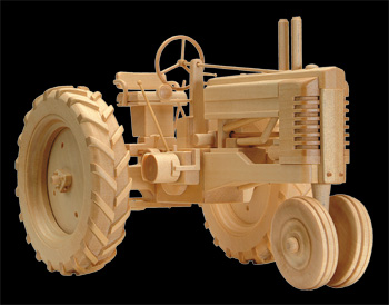 Toy Wooden Tractor Plans