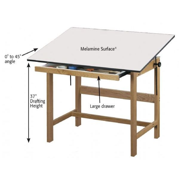 Wooden Drafting Table Plans
