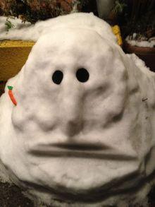 呪いの雪像w