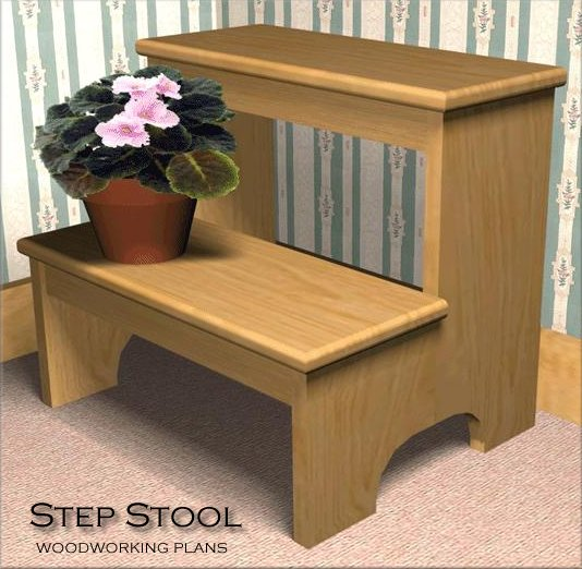 plans for wooden step stool