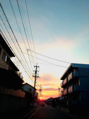 $「あるがままに生きる」-夕日