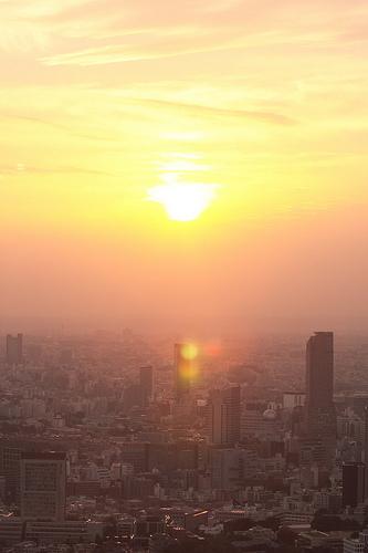 Sunset, View from Tokyo City View - 無料写真検索fotoq