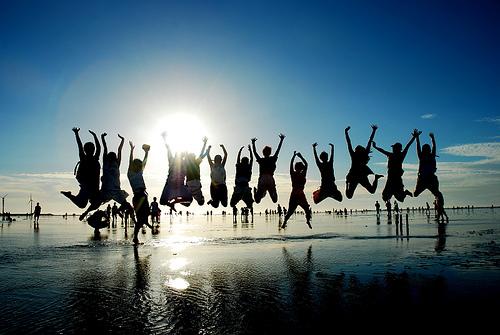 0627高美濕地小孩年輕活力大學生出大景剪影感動的照片 - 無料写真検索fotoq