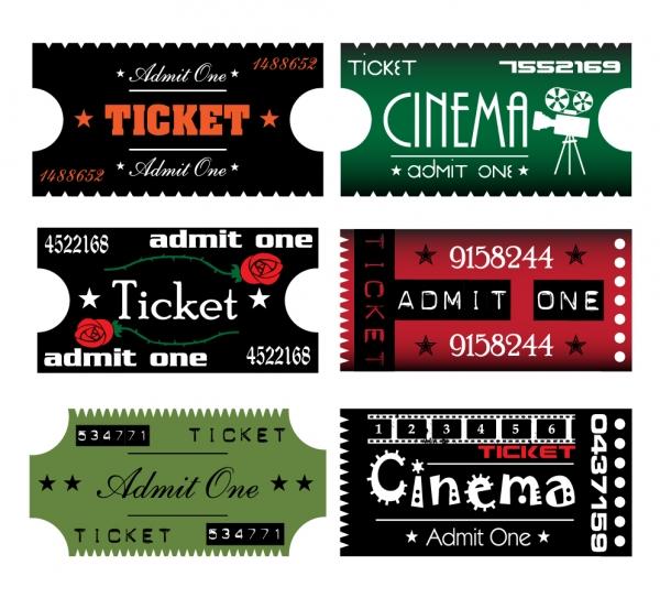 映画チケットのクリップアート movie ticket clip art