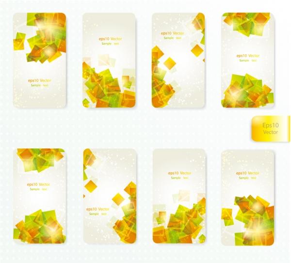 淡い色の矩形を重ねたカード背景 dynamic gorgeous card background
