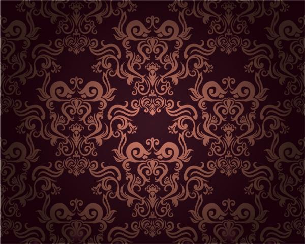 陰影のあるダマスク柄の背景 beautiful shading damask pattern