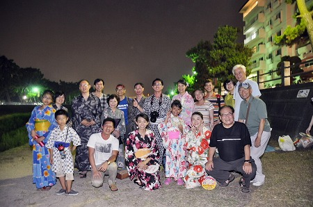 Yukata firework event