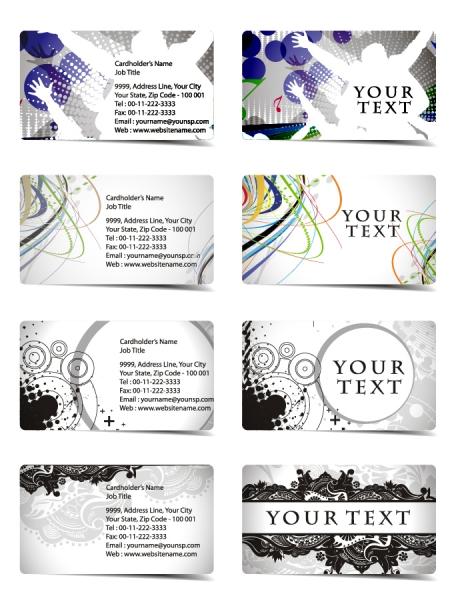 曲線が美しい実用的なカード テンプレート beautiful and practical business card templates2