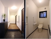 s-ホール、トイレ