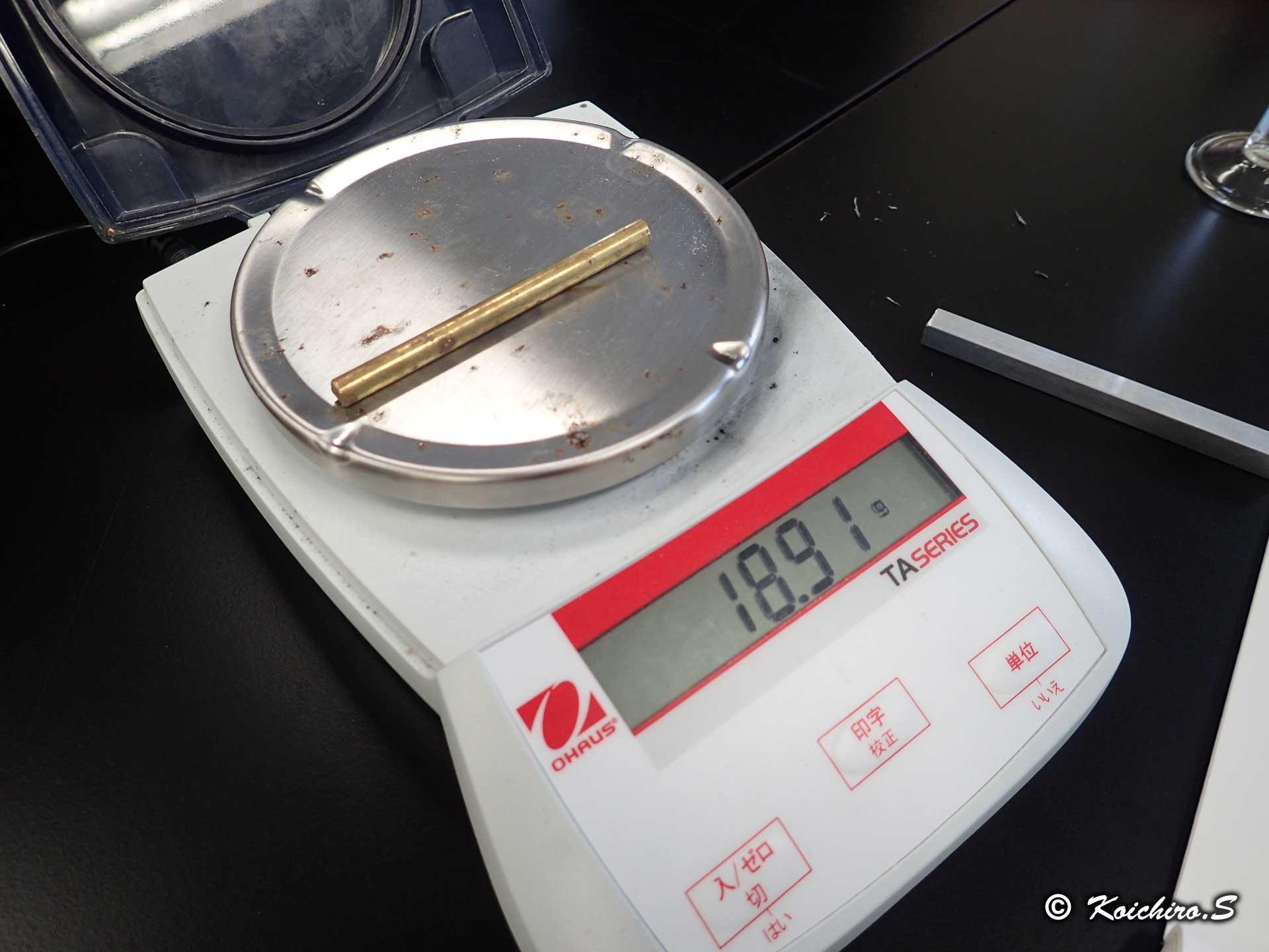 金屬の密度 - K's理科実験室 ~K's Science Lab~