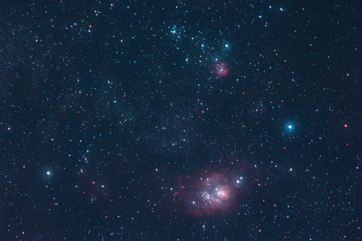 撮 鳥 同 盟 三裂星雲M20と干潟星雲M8