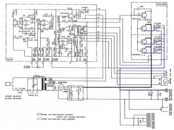 皆空の中で... DC Power Supply Daiwa PS304 の修理