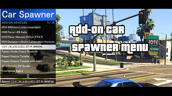 Add On Car Spawner Menu - Images of Luxury cars