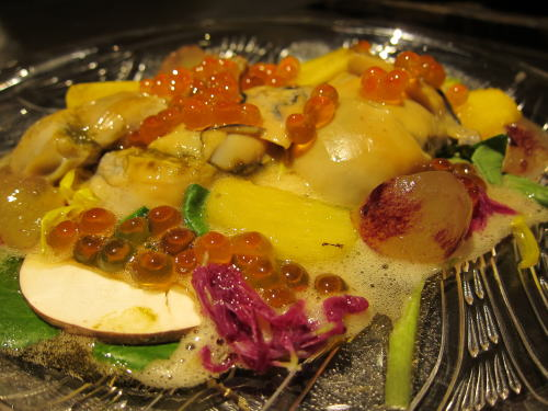 魚貝のスモーク土佐酢ジュレ