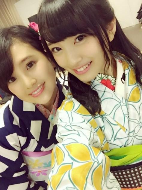 160204AKB48向井地美音with HKT48-AKB48兒玉遥(はるっぴ)