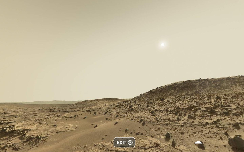 宇宙への旅人 火星の晝と夜の360度畫像