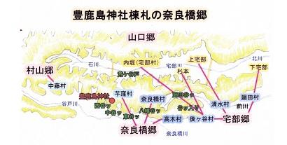 豊鹿島神社棟札の奈良橋郷