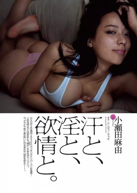 小瀬田麻由 Fカップ巨乳手ブラセミヌードグラビア 画像30枚 1