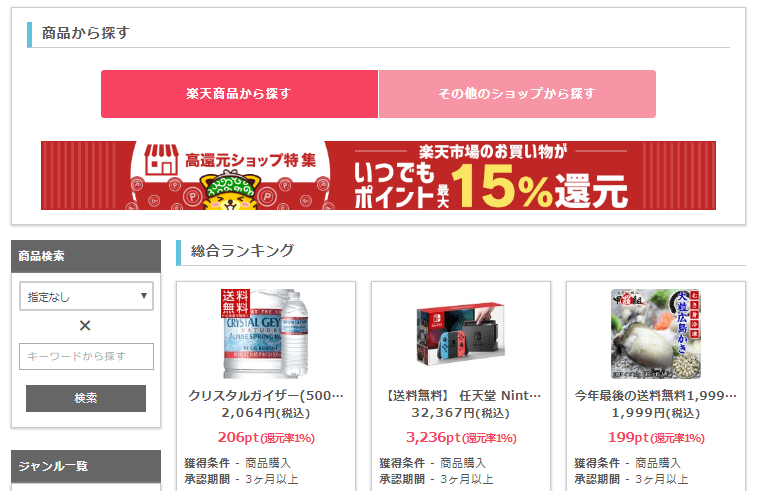 point income rakuten koukangen