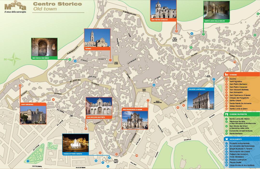 Mapa Sassi Matera  Gua Blog Italia