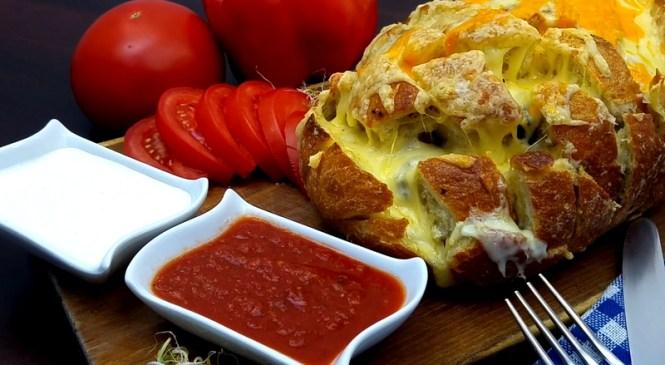 Chleb zapiekany z serem