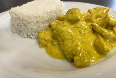 poulet au curry à la crème de coco