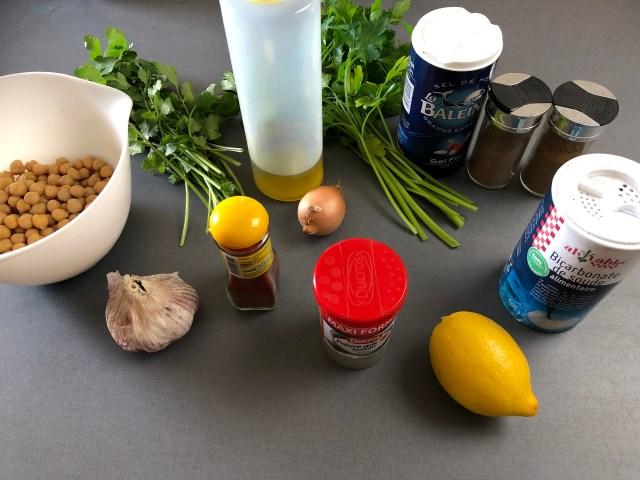 falafels fitness, ingrédients