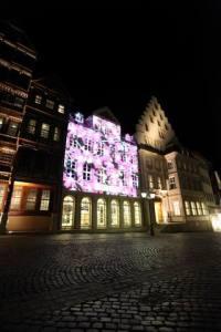 Beleuchtungsprobe Light Night 2010  Hildesheim (6)