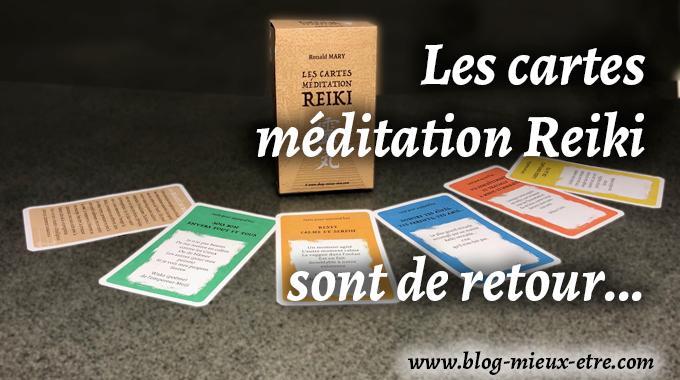 Les cartes méditation Reiki