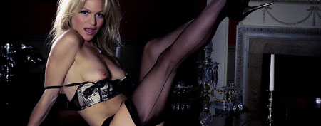 geri looks hot in sexy lingerie at a babestation shoot