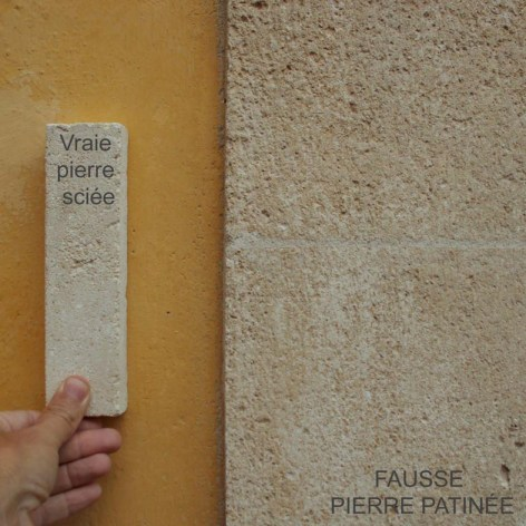 Fausse pierre patine