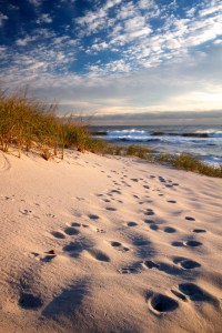 beach leading lines blog